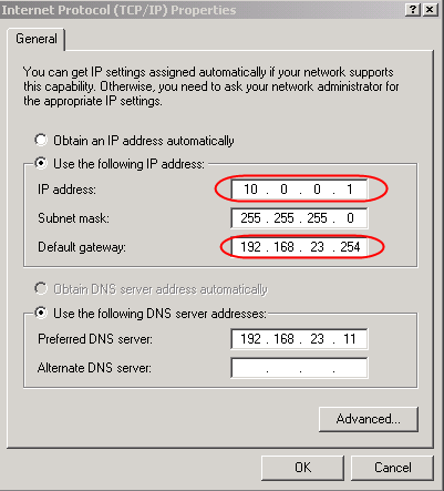 Setup a pfSense 1 2 X firewall when default gateway is on a